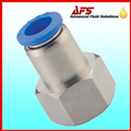 Stud Push in Fitting x Female BSPP & Metric Nylon Tube Connector Adaptor